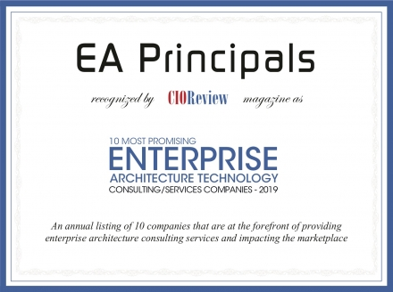 EA Principals. 10 most promising Enterprise Architecture technology consulting/services companies 2019.